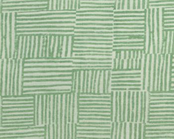 Birdie Fortesque Fabric Mishran Crosshatch Linen -Vetiver Green