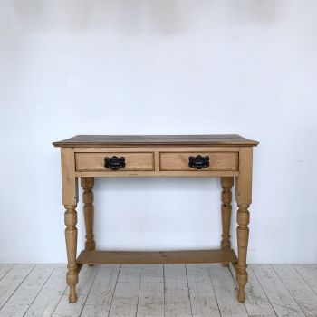 Victorian Pine Console Table With Drawers