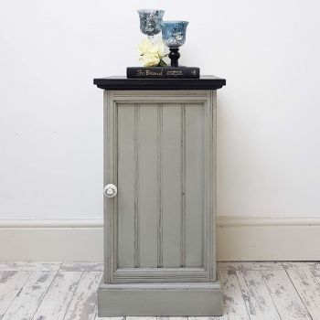 Grey Vintage Pot Cupboard
