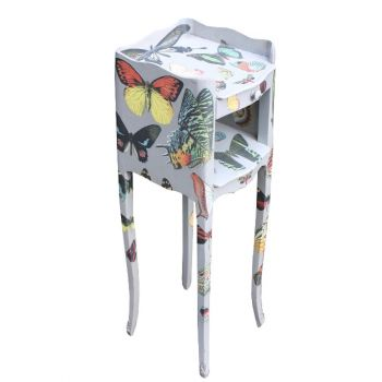 Vintage Upcycled Butterfly Bedside Tables