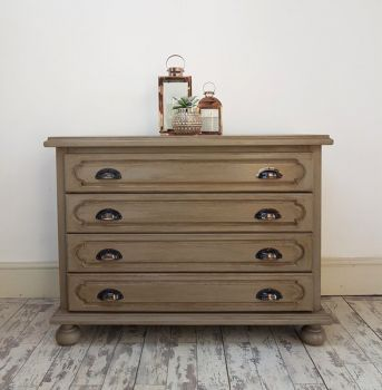 Vintage Patina Four Drawer Chest Of Drawers