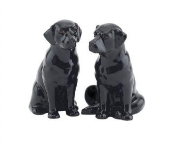Labrador Salt & Pepper Shakers Quail Ceramics