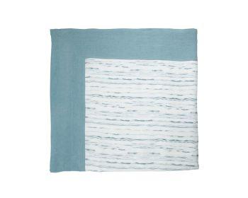 Birdie Fortesque Mishran Tablecloth in Cerulean Blue