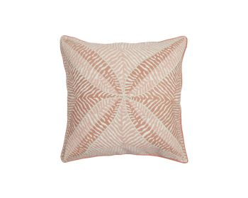 Birdie Fortesque Mishran Embroidered Cushion in Blossom Pink