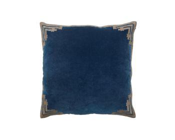 navy blue velvet cushion birdie fortesque