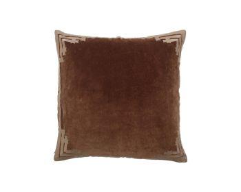 Brown velvet cushion birdie fortesque