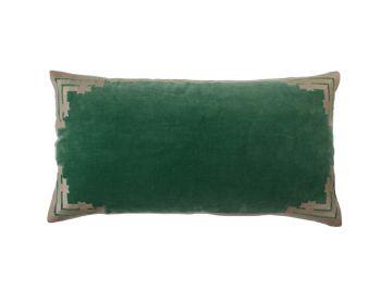 rectangular green velvet cushion birdie fortesque