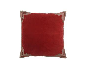 Red velvet cushion birdie fortesque