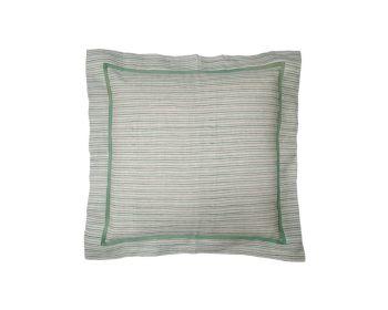 Green striped cushion birdie fortesque