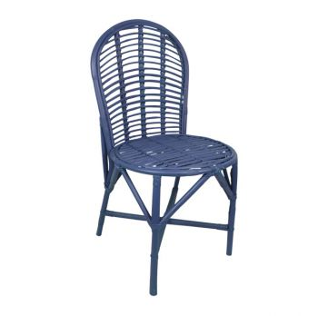 blue rattan garden chair birdie fortesque