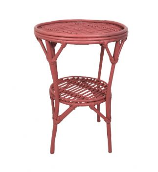 green rattan side table birdie fortesque