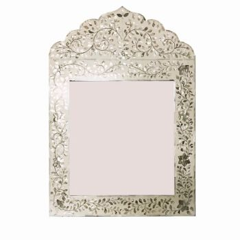 White Mother of Pearl Mahal Mirror 2