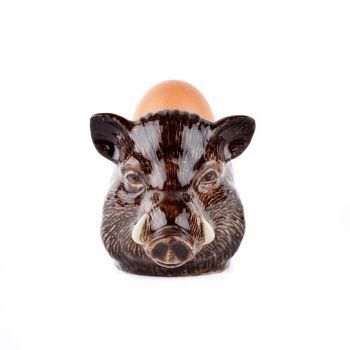 Wild Boar Face Egg Cup Quail Ceramics