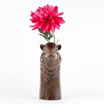 Wild Boar Flower Vase Quail ceramics
