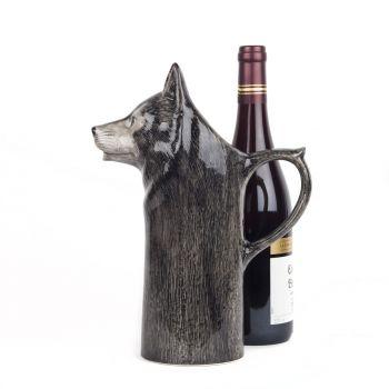Wolf Wine Jug Quail Ceramics