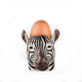 Zebra Face Egg Cup Quail Ceramics